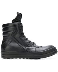 Rick Owens - Black Geobasket High-top Sneakers - Lyst