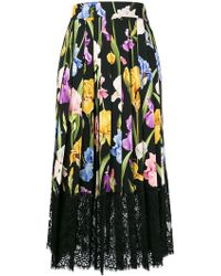 Dolce & Gabbana - Floral Flared Skirt - Lyst