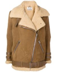 Acne Studios - Velocite Suede Shearling Jacket - Lyst