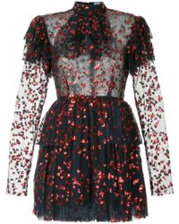 Macgraw - Heart Embellished Frill Dress - Lyst
