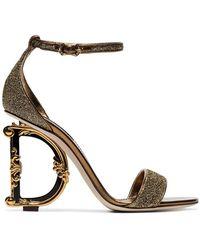 0020a4d2f5 Dolce & Gabbana - G Glitter Sandals - Lyst