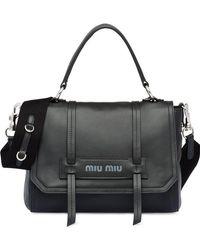 d231ee69ff16 Miu Miu Chain Crossbody Bag in Black - Lyst