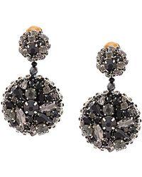 Oscar de la Renta - Jeweled Disc Earrings - Lyst