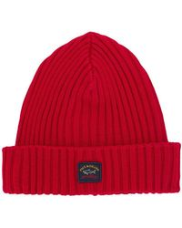 Paul & Shark - Ribbed Knit Beanie - Lyst