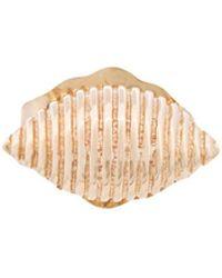 Alison Lou   14kt Yellow Gold Shell Stud Earring   Lyst