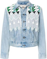 Levi's - Short Embroidered Denim Jacket - Lyst