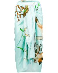 Loewe - X Paula`s Ibiza Mermaid Print Sarong - Lyst