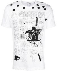 Comme des Garçons - X Jean-michel Basquiat Graphic Polka Dot Print T-shirt - Lyst