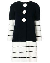 Charlott - Striped Knit Coat - Lyst