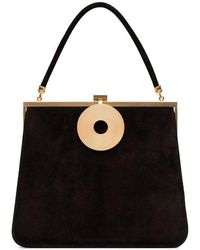 Dorateymur - Black Monologue Suede Leather Tote Bag - Lyst