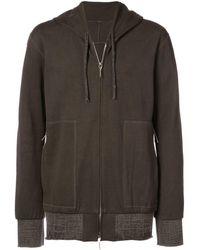 Taichi Murakami Wide Hem Zipped Jacket - Black