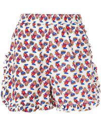 La Doublej Editions | Galletti Ruffle Shorts | Lyst