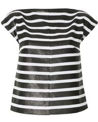 G.v.g.v - Sequin Striped Cap Sleeve Top - Lyst