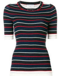 Sonia Rykiel - Slim Striped Shortsleeved Jumper - Lyst