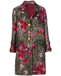 Dolce & Gabbana - Floral Single Breasted Coat - Lyst