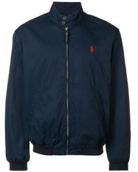 Polo Ralph Lauren - Logo Embroidered Bomber Jacket - Lyst