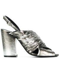 Strategia - Metallic Open-toe Sandals - Lyst