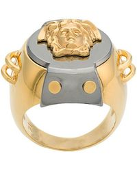 Versace - Armour Medusa Ring - Lyst