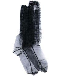 MSGM - Sheer Ruffle Socks - Lyst