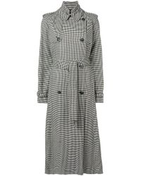 Gabriela Hearst - Lorna Houndstooth Trench Coat - Lyst