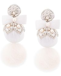 Ranjana Khan - Oversized Fur Pom Pom Earrings - Lyst
