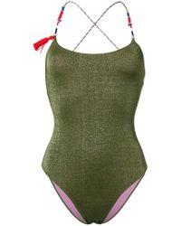 Anjuna - Elba Contrast Strap Swimsuit - Lyst