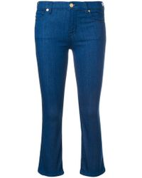 Love Moschino - Cropped Bootcut Jeans - Lyst