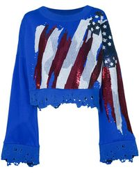 Amen - Cropped-Sweatshirt in Distressed-Optik - Lyst