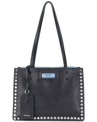Prada | Etiquette Studded Tote Bag | Lyst