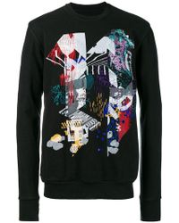 Boris Bidjan Saberi 11 - Embroidery And Print Sweater - Lyst