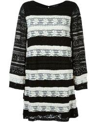 Twin Set - Striped Knit Dress - Lyst