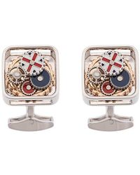 Tateossian - British Gear Union Jack Cufflinks - Lyst