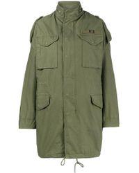 R13 - Olive Green Oversized M65 Parka Coat - Lyst