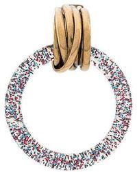Balenciaga - Glitter-effect Hoop Earrings - Lyst