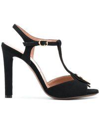 L'Autre Chose - Circular Logo Plaque Sandals - Lyst