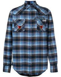 Dolce & Gabbana - Camicia con motivo tartan - Lyst