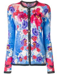 Roberto Cavalli | Long Sleeved Floral Cardigan | Lyst