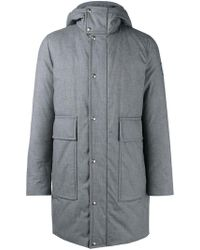 Moncler Gamme Bleu | Padded Hooded Coat | Lyst