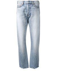 Balenciaga - Jeans mit asymmetrischen Nähten - Lyst