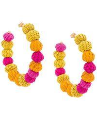 Carolina Herrera - Raffia Beads Earrings - Lyst