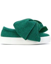 Joshua Sanders - Slip-on Sneakers With Bow - Lyst