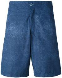 Fashion Clinic Washed Swim Shorts - Blue