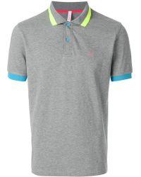 Sun 68 - Collar Contrast Polo Shirt - Lyst
