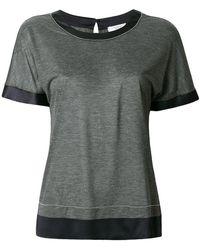 Peserico - Satin Trimming T-shirt - Lyst