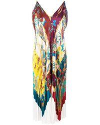 Ferragamo - Sumatra Pleated Dress - Lyst