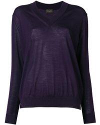 Roberto Collina - V-neck Sweater - Lyst