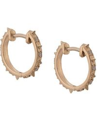 Marlo Laz - 14kt Gold Guiding Light Micro Hoop Earrings - Lyst