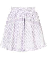 Cecilie Copenhagen - Patterned Mini Skirt - Lyst