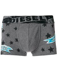 DIESEL - Star Print Slogan Boxers - Lyst