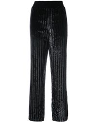 RTA - Striped Sequined Trousers - Lyst